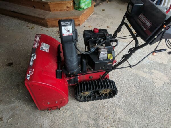 Craftsman Model 247.888550 Track Drive 28-inch 2-stage Snow Blower 9 HP
