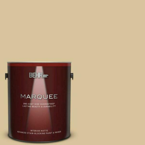 1 gal. #S310-3 Natural Twine Matte Interior Paint and r in One