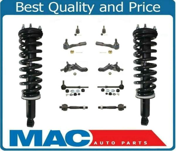 01-02 Sequoia F Coil Spring Strut and Mount Tie Rods Ball Joints Sway Bar 12Pc