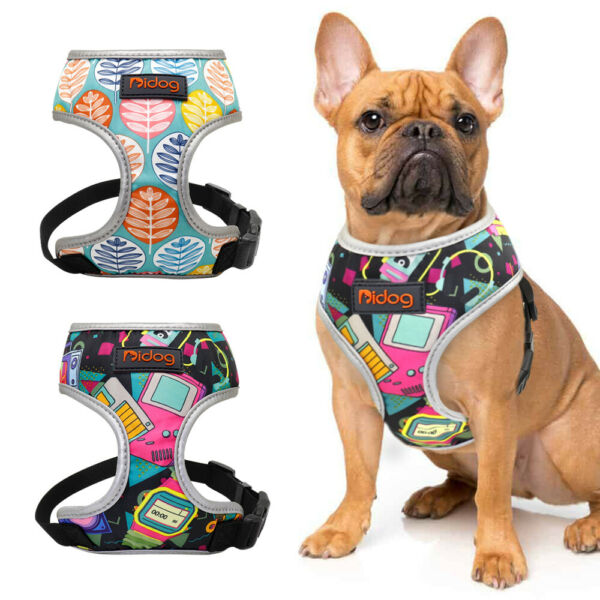 Reflective Dog Harnesses for Small Medium Dogs Soft Mesh Puppy Cat Walking Vest $6.99