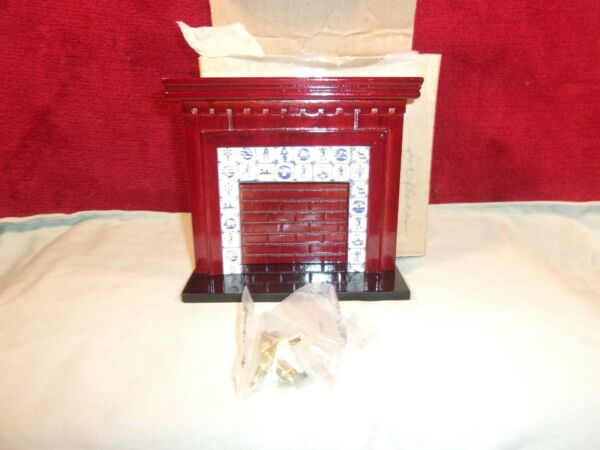 Dollhouse Fire Place wAndirons Miniature NOS 4 34