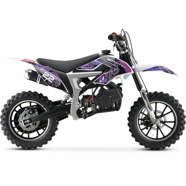 MotoTec 50cc 2 Stroke Demon Kids Gas Dirt Bike Multi Colors $344.00