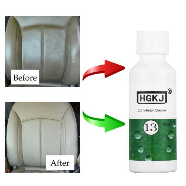 HGKJ-13 Car Care Interior Leather Seat Sofa Polish Wax Panel Dashboard Clean