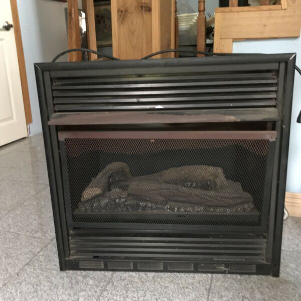 Embedded Electric Fake Logs Fireplace Insert Heater With Blower 36
