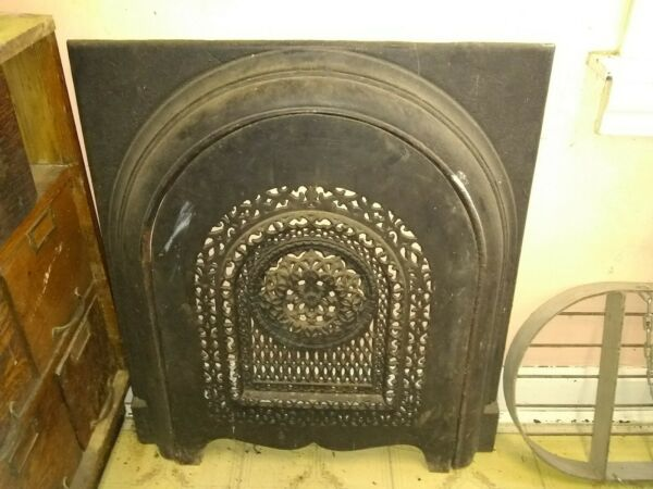 ANTIQUE CAST IRON FIREPLACE SURROUND COVER INSERT