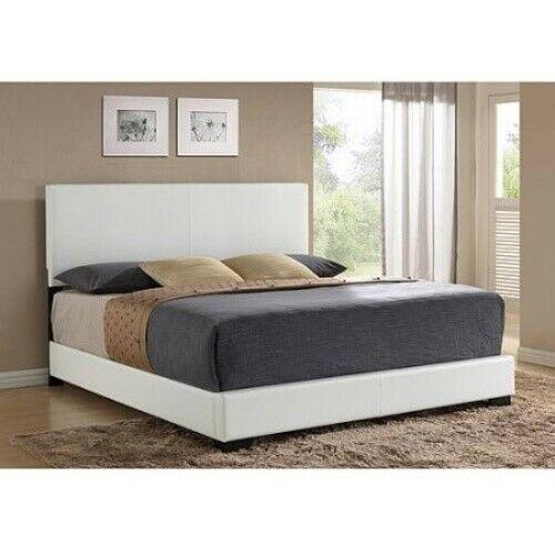 Ireland King Faux Leather Bed White $195.64