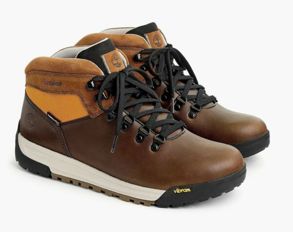 Timberland for J.Crew GT Scramble Hiking Boots Sz 9.5M Brown Leather Shoes J9290 $89.99