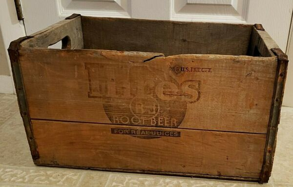 ANTIQUE HIRES ROOT BEER SODA CRATE CARRIER WOODEN BOX 24 12 OZ BOTTLES NICE RARE