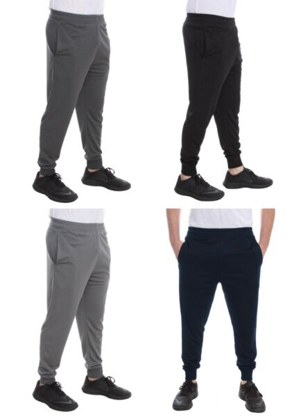 Men#x27;s Mesh Dri Fit Pants Athletic Joggers Light Weight Workout Track Gym S XXL