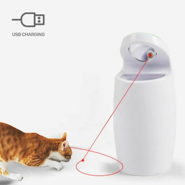 Laser Cat Toy Interactive Pet Toys Smart Automatic Exercise Training Multi-Angle $28.51