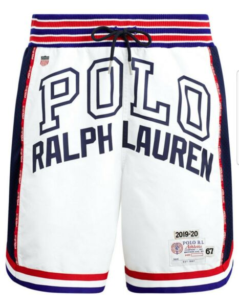 Polo Ralph Lauren limited Chariots of Fire Shorts Don C Olympics Cross Flags