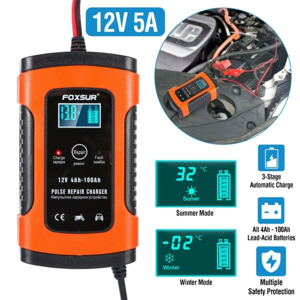 12V Car Battery Charger Maintainer Auto Trickle RV for Truck Motorcycle ATV US $26.45