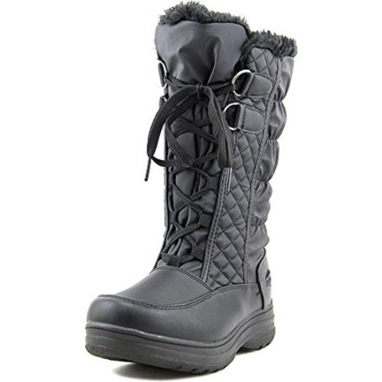 TOTES Women's Inside Zip Donna Waterproof Thermo-Lite Winter Snow Boots Size US7