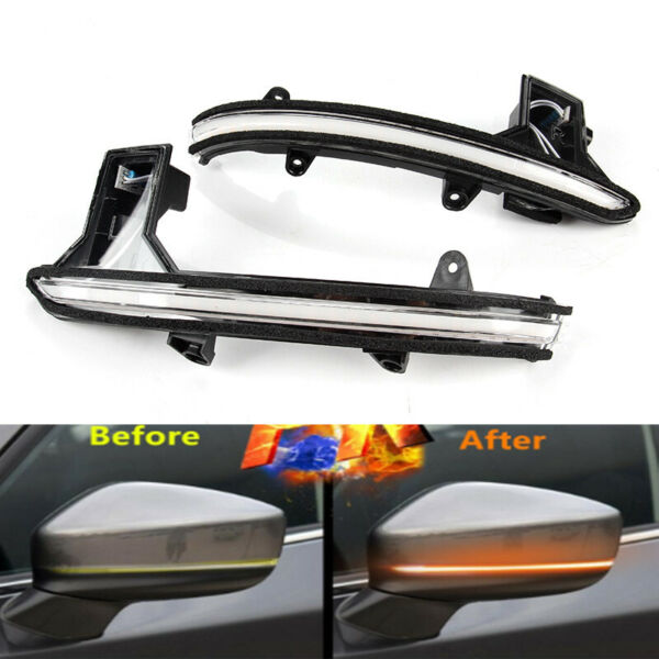 2x LED Side Mirror Sequential Turn Signal Light For Mazda CX-5(KF) CX-8 CX-9(TC)