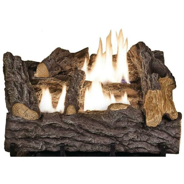 Emberglow Gas Fireplace Log Set with Manual Control 18 in. Ventless
