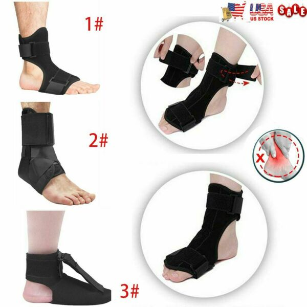 Adjustable Fit Heel Pain Relief Plantar Fasciitis Night Splint Foot Drop Brace