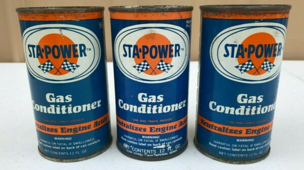 3 Vintage STA POWER gas conditioner cans $9.95