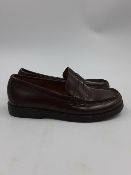 SPERRY TOPSIDER Colton Model YOUTH Penny Loafers Shoes Burgundy BOYS SIZE 1.5N $19.99