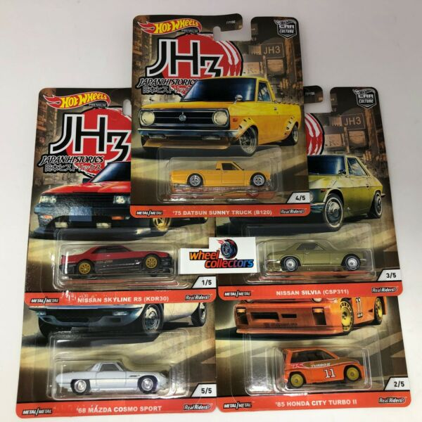 5 Car Set * 2020 Hot Wheels Japan Historics 3 Car Culture Case P $29.99