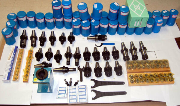 111  Pc Techniks CAT 40 CNC Mill Tooling Kit-HaasFadal-Pull StudEndmill Holder