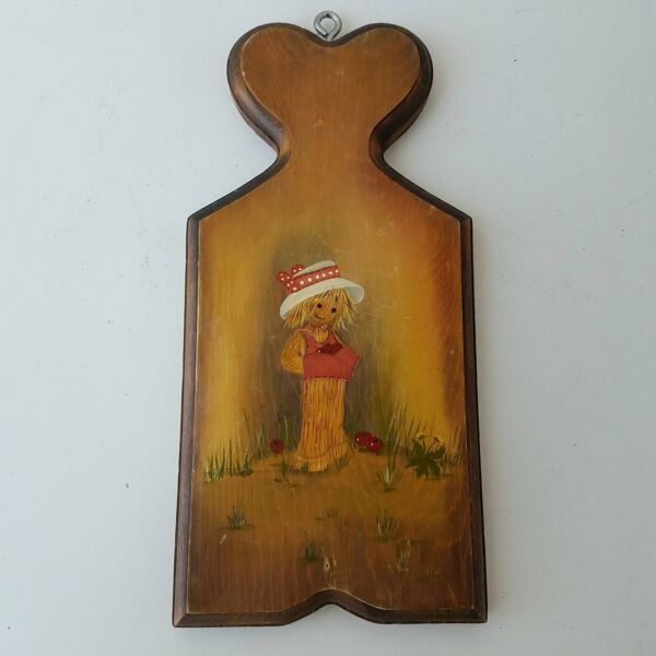 Scarecrow With Hat Wooden Hanging Wall Decor