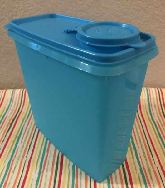 Tupperware Modular Mate Cereal Keeper Dry Foods Storer Blue Seal 13 Cups New