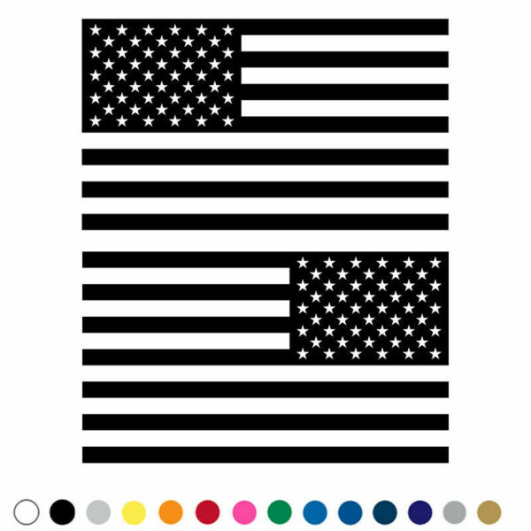 American Flag Decal Fender Door Vinyl Sticker - Set of 2 for LEFT and RIGHT Side