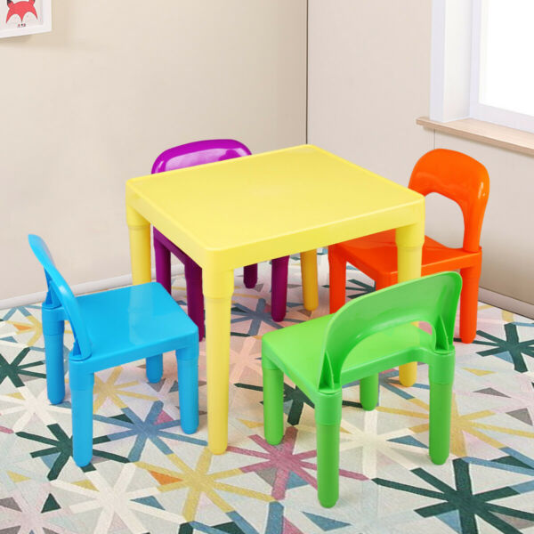 Kids Table and 4 Chairs Toddler Child Party Toys Fun Activity Furniture Play Set