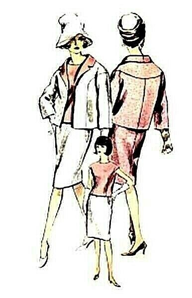 #207 TWO 3 PIECE SUIT  PATTERN FOR FASHION DOLLS
