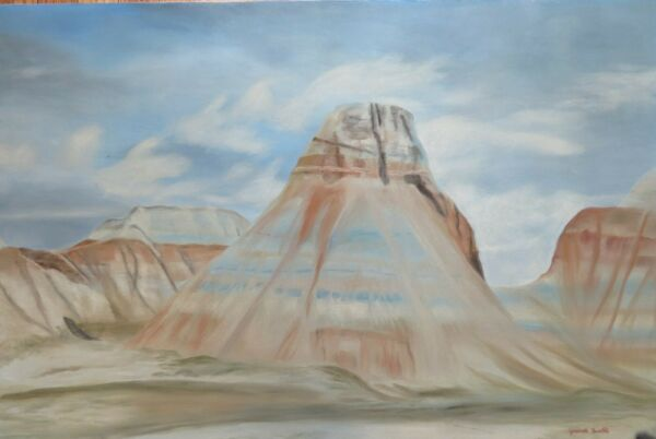 Painted desert oil on canvas  original painting by Genevieve Bascetta