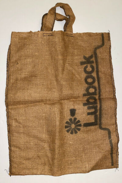 Burlap Tote Bag Printed With Lubbock Texas Windmill