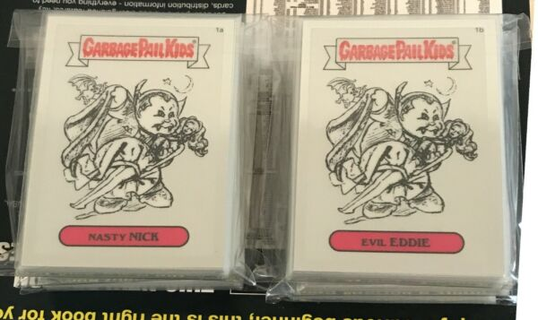 2013 GARBAGE PAIL KIDS - CHROME 1 - PENCIL ART SET (82 CARDS)