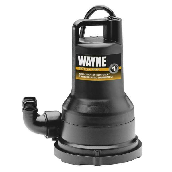 12 HP Non-Clogging Vortex Reinforced Thermoplastic Submersible Utility Pump