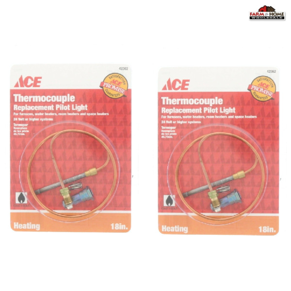 2 Thermocouple Replacement Gas Pilot Light Control 18quot; New $22.95