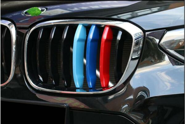 For 2018+ BMW G01 X3 w 7 M-Color Grille Insert Trims Standard Grille Beams
