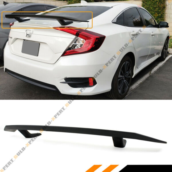 Si STYLE REAR TRUNK SPOILER WING FOR 2016-2020 10TH GEN HONDA CIVIC SEDAN COUPE