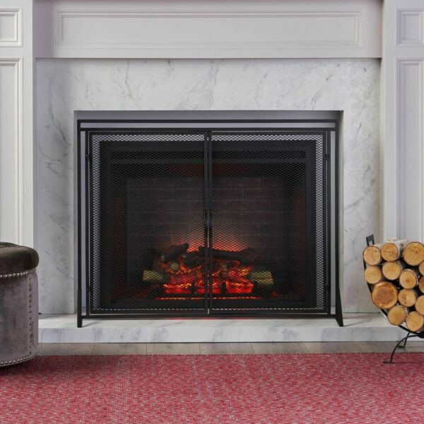 Kolten Modern Iron Fireplace Screen