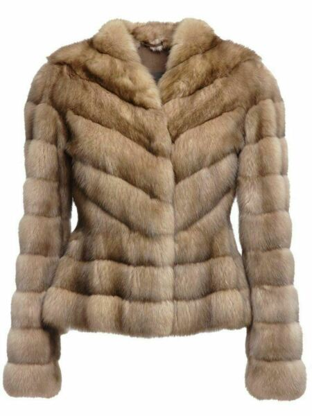 Russian Sable Fur Jacket Fit in Waist Zibeline Sobol Premium European Fur