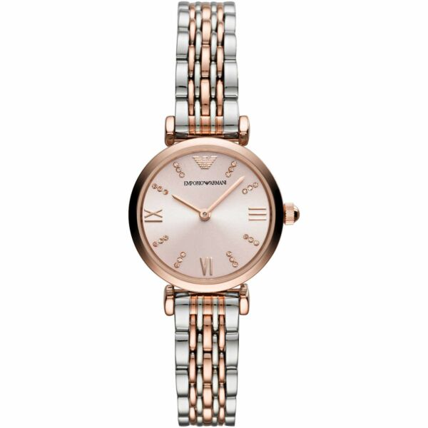 Emporio Armani AR11223 Dress Women's Watch SilverRose Gold Stainless Steel