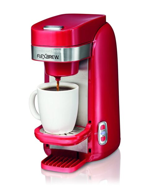 Coffee Maker Keurig Cup Brewer Personal Single Serve System Hamilton Beach Red