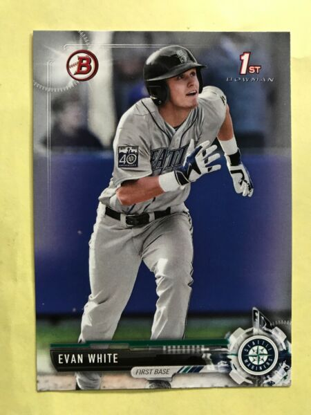 2017 Bowman Draft EVAN WHITE Rookie Card RC Seattle MARINERS #BD-178