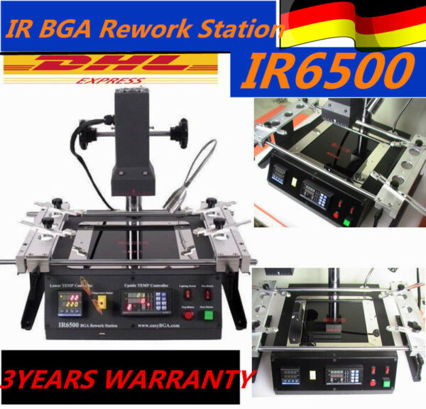 IR6500 Infrared BGA Rework Station Welder Soldering Heating System Machine EU
