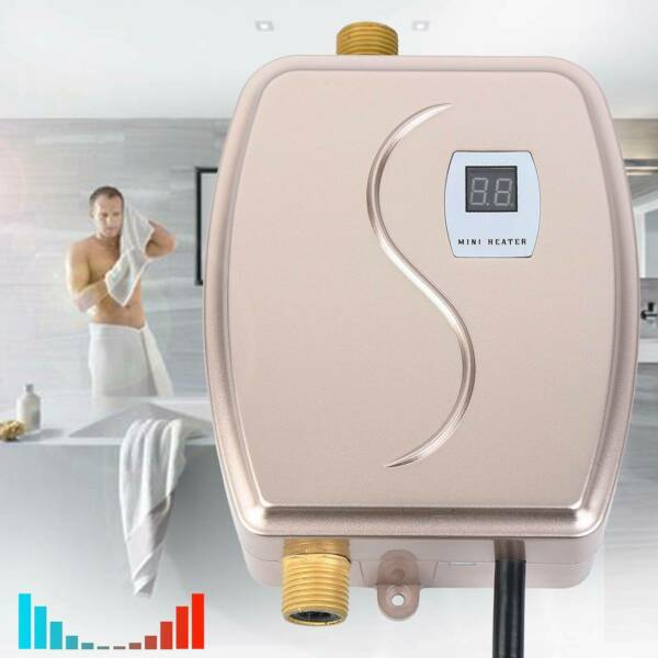 3000W Tankless Electric Water Heater Instant Hot Water Shower Kitchen Bathroom $50.86