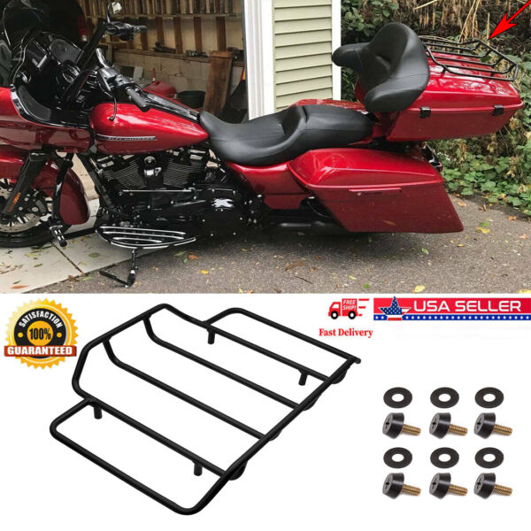 Tour Pak Pack Luggage Top Rack Trunk For Harley Touring Road Street US stock JH2 $36.76
