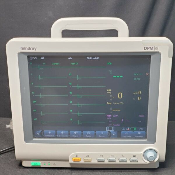 Mindray DPM6 - Nellcor Oximax 12 Lead ECG NIBP & 5 Agent Gas - Biomed Tested