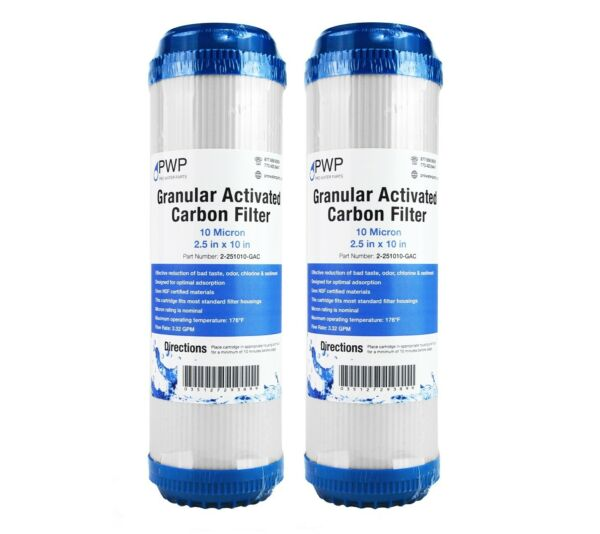 Granular Activated Carbon Water Filter Cartridge Standard 2.5 x10quot; 10 Micron 2
