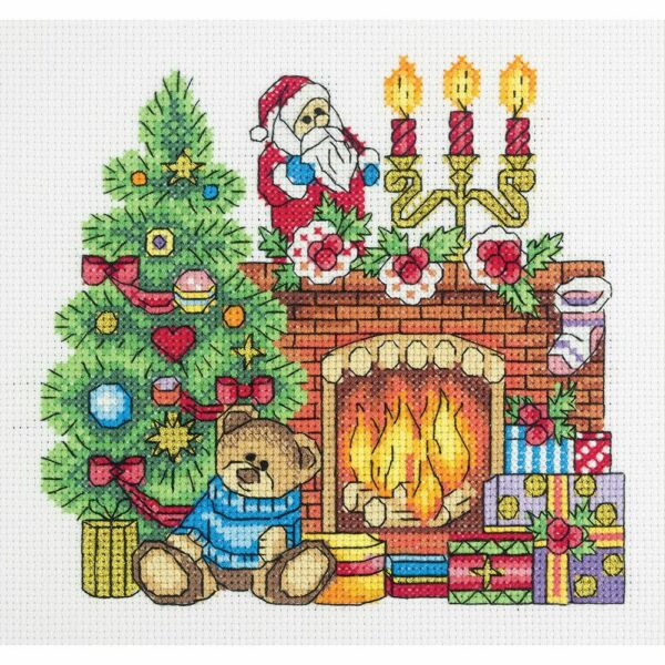 Panna counted cross stitch kit quot;The Fireplacequot; 18x17cm DIY