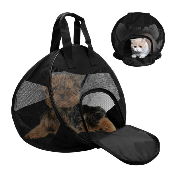 Mesh Pet Dog Carriers Soft Sided Travel Crate Small Puppy Cat Collapsible Bags $34.99