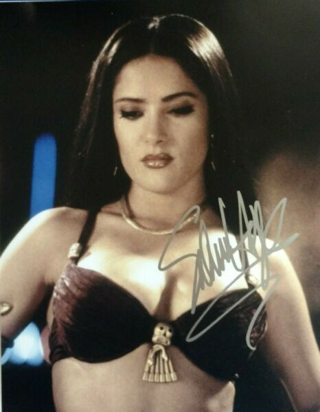 Salma Hayek Hand Signed 8 X 10 Photo