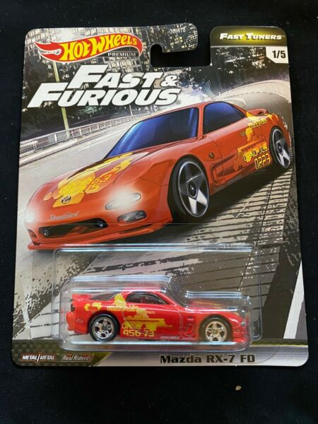 2020 HOT WHEELS FAST & FURIOUS PREMIUM FAST TUNER Mazda RX-7 FD New Near Mint